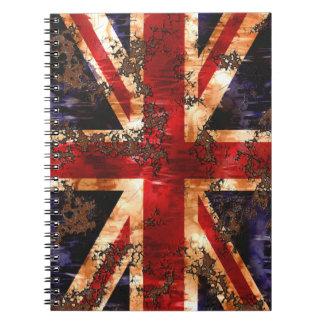 Rusted Patriotic United Kingdom Flag Notebooks