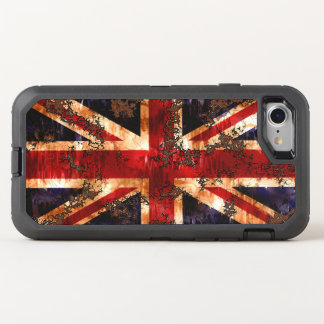 Rusted Patriotic United Kingdom Flag OtterBox Defender iPhone 7 Case