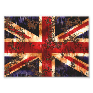 Rusted Patriotic United Kingdom Flag Photo Print
