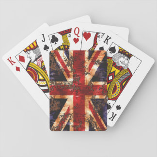 Rusted Patriotic United Kingdom Flag Playing Cards