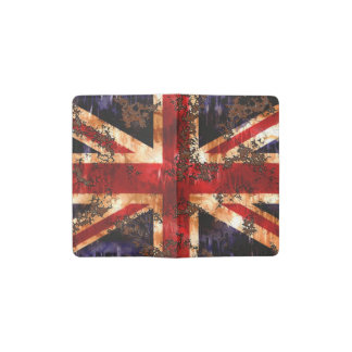 Rusted Patriotic United Kingdom Flag Pocket Moleskine Notebook