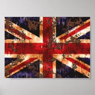 Rusted Patriotic United Kingdom Flag Poster