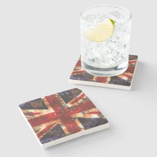 Rusted Patriotic United Kingdom Flag Stone Coaster