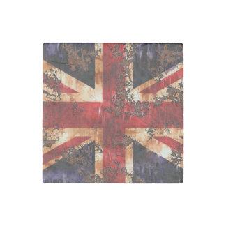 Rusted Patriotic United Kingdom Flag Stone Magnet