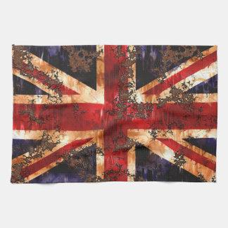 Rusted Patriotic United Kingdom Flag Tea Towel