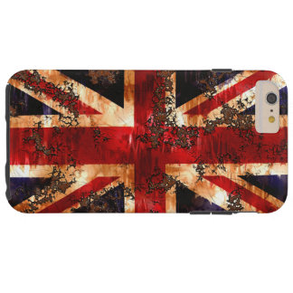 Rusted Patriotic United Kingdom Flag Tough iPhone 6 Plus Case