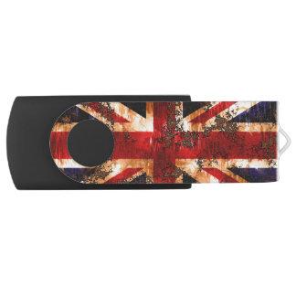 Rusted Patriotic United Kingdom Flag USB Flash Drive
