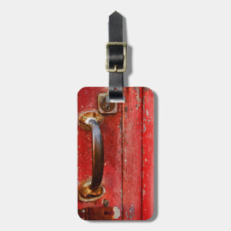 Rusted Red Door Luggage Tag
