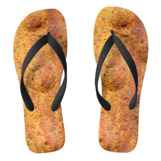 Rusted Riveted Metal Flip Flops