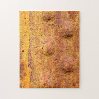 Rusted Riveted Metal Photo Puzzle with Gift Box