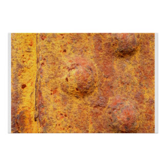 Rusted Riveted Metal Poster