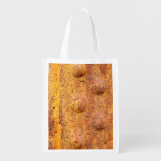Rusted Riveted Metal Reusable Bag