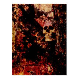 Rusted Skull Postcard