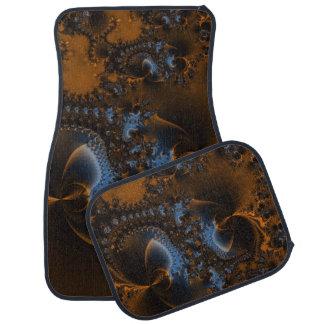 Rusted Splendor Fractal Car Mat