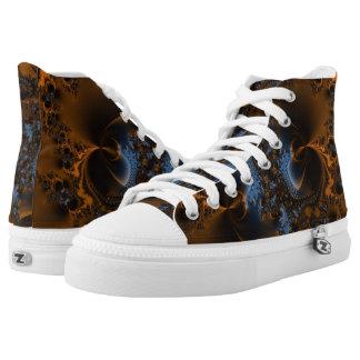 Rusted Splendor Fractal Printed Shoes