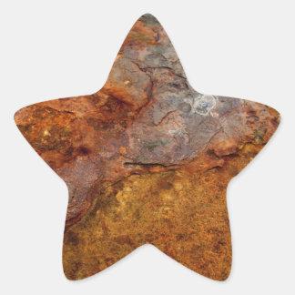 Rusted Star Sticker