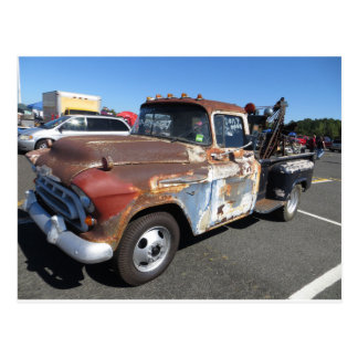 Rusted Tow Truck Postcard