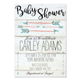 Rustic Adorned with Arrows | Baby Shower Invite
