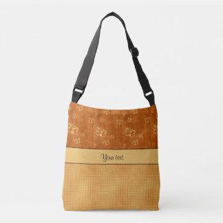 Rustic Amber  & Butterflies Crossbody Bag