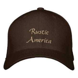 Rustic America Embroidered Baseball Cap