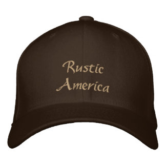 Rustic America Embroidered Baseball Cap