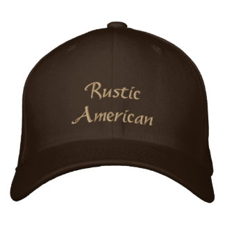 Rustic American Embroidered Baseball Cap