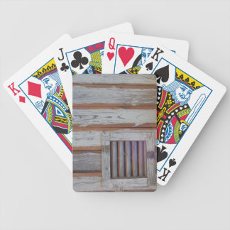 Rustic American Flag Bicycle Playing Cards