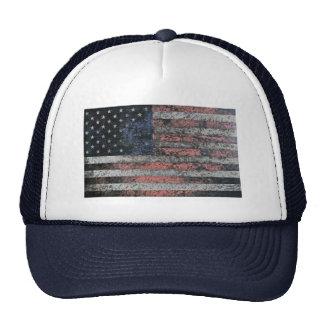 Rustic American Flag Hat