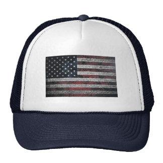 Rustic American Flag Hats