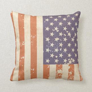 Rustic American Flag Pillow