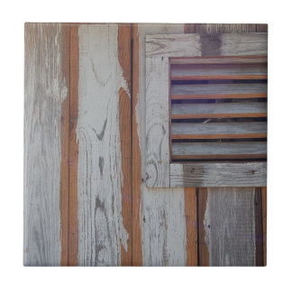 Rustic American Flag Small Square Tile