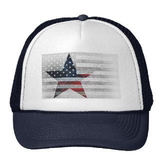 Rustic American Star Flag Trucker Hat