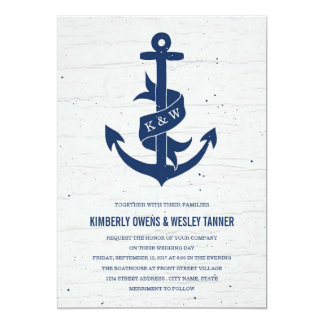 Shop Zazzle's selection of nautical wedding invitations for your special day!