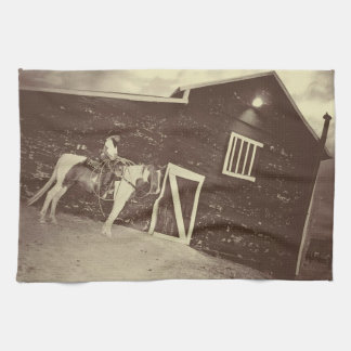 Rustic and Real Cowgirl Kitchen Towel