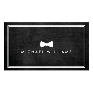Rustic and Refined Men's Classic Bow Tie Logo Pack Of Standard Business Cards