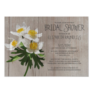 Rustic Anemone Bridal Shower Invitations