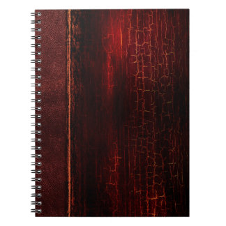 Rustic Antique Ancient Tome Faux Red Leather Notebooks