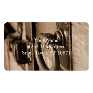 Rustic Antique Door Handle Pull and Latch Sepia Pack Of Standard Business Cards