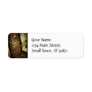 Rustic Antique Stacked Wooden Boxes Crates Faded Return Address Label
