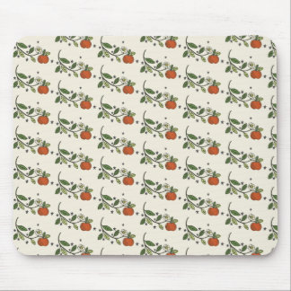 Rustic apple branch drawing pattern mousepad