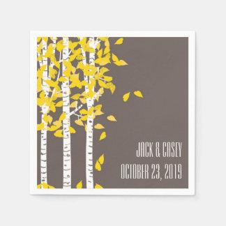 Rustic Aspen Birch Trees Wedding Napkins Paper Napkin
