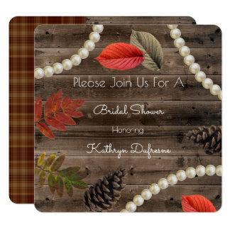 Rustic Autumn Elegance Bridal Shower Invitation