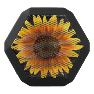 Rustic Autumn Sunflower Black Bluetooth Speaker