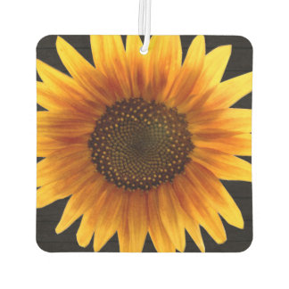Rustic Autumn Sunflower Car Air Freshener