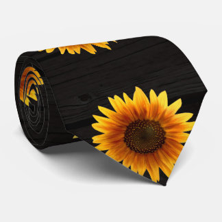 Rustic Autumn Sunflower Tie