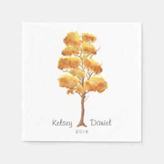 Rustic Autumn Tree | Wedding Napkins Disposable Napkin