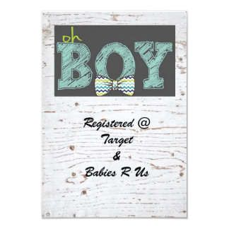 Rustic Baby shower for boy Card