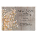 Rustic Baby's Breath Bridal Shower Invitations