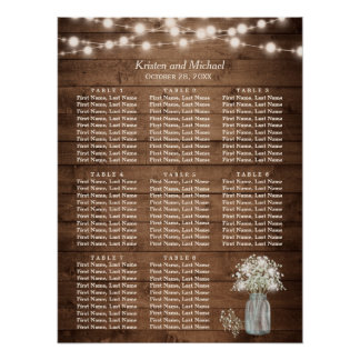 Rustic Baby's Breath String Lights Seating Chart