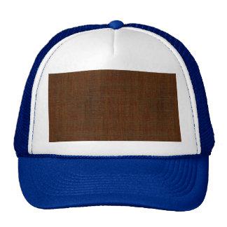 Rustic Bamboo Wood Grain Texture Look Cap